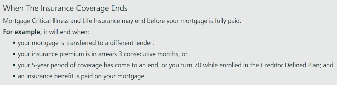 Bank Mortgage Insurance Renewal