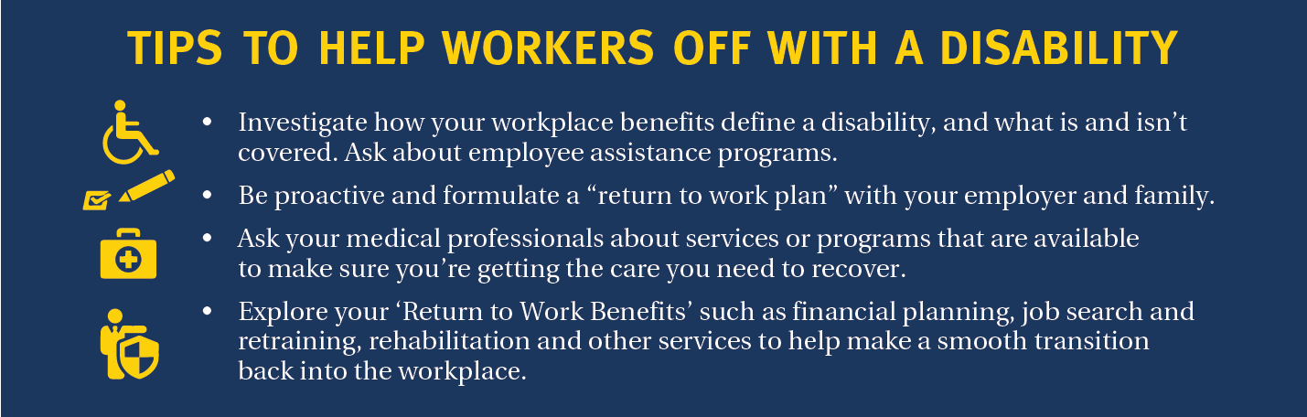 Tips to help workers off with disability