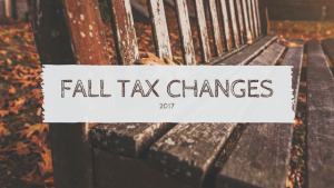 Fall Tax Changes for Pharmacy Owners